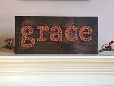 A personal favorite from my Etsy shop https://www.etsy.com/listing/262501154/made-to-order-grace-string-art