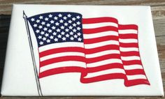 """AMERICAN FLAG pinback button. U.S. A. Flag Pin   LARGE 2""""x 3"""" - JULY 4th  button #Buttons"""