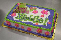 Birthday Sheet Cake, by Stephanie Dillon, LS1 Hy-Vee
