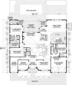 Plan 32072AA: Striking Stair Tower   2nd floor, House plans and ...