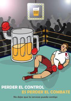 No dejes que la cerveza pueda contigo. #undedodeespuma #undedodespuma