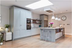 Laura Butler-Madden - London Kitchen, Kitchen Design, Roundhouse, Farrow & Ball, Lamp Room Grey.
