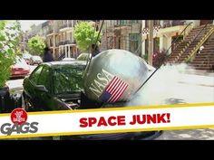NASA Satellite Falls On Car
