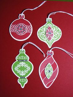 Ornament Tags - Stampin' Connection