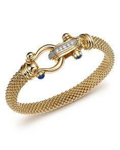 Bloomingdale's Yellow Gold Beaded Mesh Bracelet with Diamond Clasp - Exclusive Jewelry & Accessories - Fine Jewelry - Bracelets - Bloomingdale's Diamond Bracelets, Ankle Bracelets, Gold Bangles, Silver Bracelets, Jewelry Bracelets, Silver Jewelry, Fine Jewelry, Cross Jewelry, Jewellery