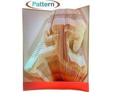 Folded book art Book folding patterns Birthday by WolFabricBooks Book Folding Patterns, Folded Book Art, Sculpture Art, Birthday, Handmade, Stuff To Buy, Etsy, Birthdays, Hand Made