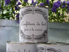 Petits pots de confiture de lait JOLIE RUE