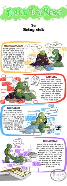 Turtle Tots React - Being sick by Myrling on DeviantArt