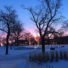 After our first true snowfall of the year, Drake is beautiful at sunrise. Professor David Wright snapped this photo on his way to Meredith Hall this morning. #drakepotd