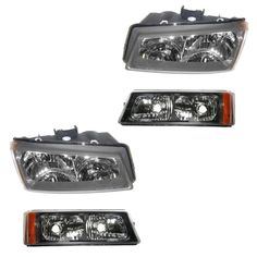 Headlight Parking Light Lamp Kit Set of 4 for Chevy Avalanche 1500 Silverado NEW #AftermakerReplacement