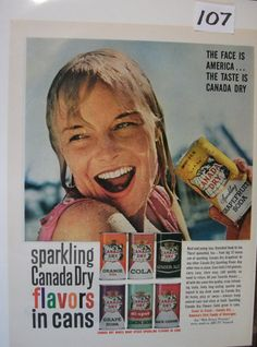 107  Canada Dry  . 1961 by hobohillfarm on Etsy