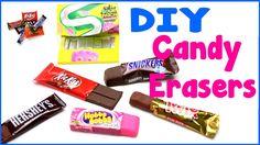 DIY Crafts: 6 Easy DIY Candy Erasers - Cool Unique Craft Tutorial