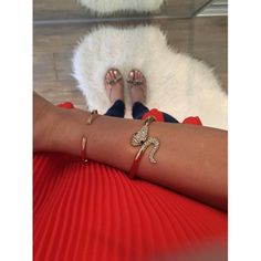 Crystal Snake Bracelet and Simple Gold Cuff with Crystals. ShopDesignSpark