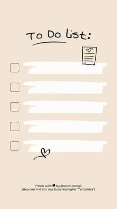 icu ~ To Do List Ideas De Instagram Story, Creative Instagram Stories, Instagram Story Template, Instagram Background, Instagram Frame, Wallpaper Free, Memo Notepad, Note Doodles, Study Planner