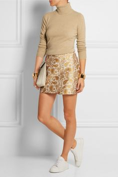Stella McCartney | Beth paisley cotton-blend jacquard mini skirt | NET-A-PORTER.COM