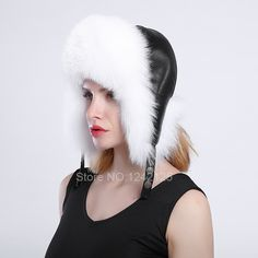 18140dd49b914 Click to Buy    New Russia Winter girl lady women Real Fox Fur.
