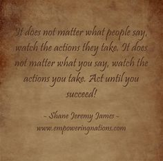 Act Until You Succeed!