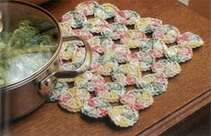 Pretty crochet pot holders