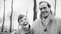 オードリー・ヘップバーン > 1954年に結婚したメル・ファーラーとの笑顔のツーショット
