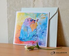 Bear Kissing - Folded note card