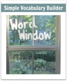 No room for a word wall? Make a word window.