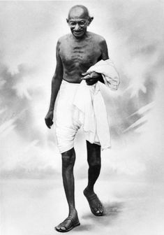 A portrait of Indian nationalist leader Mohandas Karamchand Gandhi , popularly known as Mahatma Gandhi, whose policy of peaceful demonstration led India from British rule to independence, Get premium, high resolution news photos at Getty Images Mahatma Gandhi Photos, Gandhi Quotes, Gandhi Life, Quotes Quotes, Winston Churchill, Martin Luther King, Subhas Chandra Bose, Einstein, Indira Gandhi