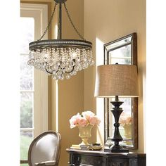 Regina Olive Bronze Wide Crystal Chandelier Dining Room Light Not exactly this Dining Chandelier, Dining Room Lighting, Home Lighting, Track Lighting, Chandelier Design, Bubble Chandelier, Table Lighting, Rectangle Chandelier, Rustic Chandelier