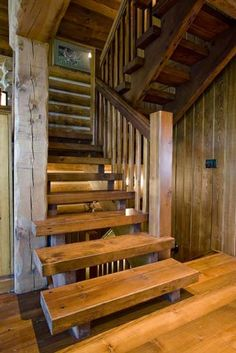 stairs (not hand rail). wooden treads and stringers