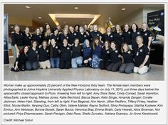 """sorayachemaly: """"Women scientists made up 25% of the Pluto fly-by New Horizon team. Make sure you share this, because erasing women's achievements in science and history is a tradition. Happens every..."""