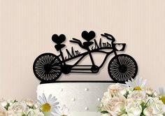 Mr and Mrs Bicycle Cake Topper