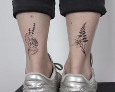 Calves, maybe sunflower and edelweiss Mini Tattoos, Love Tattoos, Small Tattoos, Tatoos, Edelweiss Tattoo, Calf Tattoos For Women, Tropical Flower Tattoos, Back Of Ankle Tattoo, Widder Tattoo