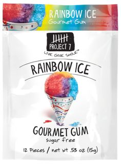Summer Snow Sugar Free Gum by Project 7 Gum Flavors, Sugar Free Gum, Snow In Summer, New Flavour, Summer Treats, Christmas Candy, Christmas Ideas, Morning Coffee, Gourmet Recipes