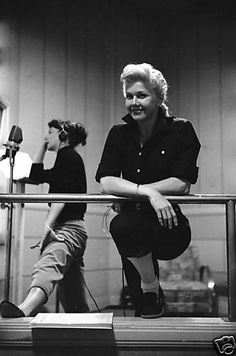 """Doris Day in Rehearsals for """"Calamity Jane""""."""