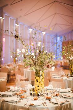Gigi and Justin's gorgeous wedding reception in the Atrium at Brooklyn Botanic Garden.