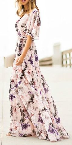 I know its a ton of fabric, but a sleeved, flowy dress is just divine