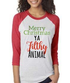 Merry Chirstmas Ya Filthy Animal by CraftMomCo on Etsy