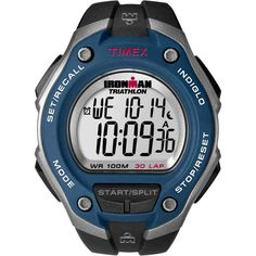 """Timex Men's """"Ironman Traditional"""" Running Watch with Black Resin Band Triathlon Watch, Timex Ironman Triathlon, Triathlon Gear, Sport Watches, Cool Watches, Watches For Men, Unique Watches, Casual Watches, Oversized Watches"""