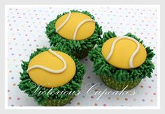 Tennis Cupcakes by Victorious Cupcakes, via Flickr
