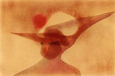 Paul Klee 'Lady in a Wide-brimmed Hat' 1931 39.5 x 26.5 cm