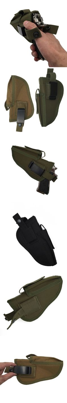 Hunting Military Tactical Left Right Hand Gun Pistol Holster Shooting Airsoft Gun Pouch Mag Slot Holder Quick Release