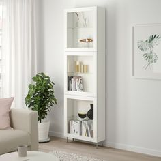 IKEA BESTA White, Sindvik/stallarp White Clear Glass Storage combination w/glass doors - - Bookshelves, Bookcase, Soft Closing Hinges, Plastic Glass, Plastic Foil, Ikea Storage, Knobs And Handles, Glass Shelves, Home Decor