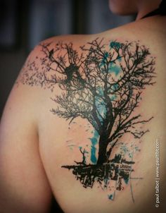 I've been wanting to get a tree tattoo. This is a great one