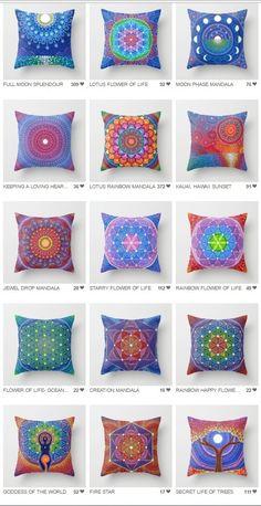 Beautiful mandala pillows