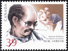 Sello: Norman Bethune in China (Canadá) (Birth Centenary of Dr. Norman Bethune (surgeon)) Mi:CA 1376 Norman, Sell Stamps, Stamp Catalogue, Canada, Good Neighbor, True North, Special People, Small Towns, Postage Stamps