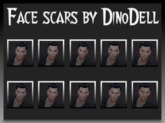 - Face scars for male and female. Found in TSR Category 'Sims 4 Male Tattoos'
