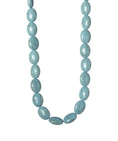 Look at this #zulilyfind! Turquoise Howlite Beaded Necklace by of earth #zulilyfinds