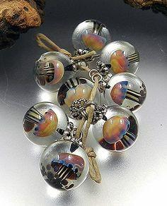 Cute little mushrooms in beads.