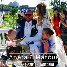 Traditional Wedding Entrance during the wedding of Aneta and Marcus in Pyrgos Restaurant Santorini | #DJinSantorini #SantoriniDJ #DJinGreece #DJMikeVekris