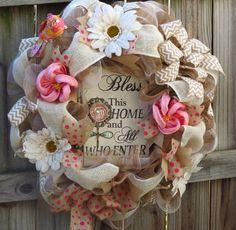 Spring Deco Mesh Wreath Everyday Deco Mesh by FestivalofWreaths