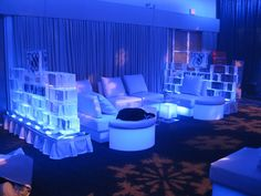 #ice as furniture grouping dividers? YES please! #eventprofs